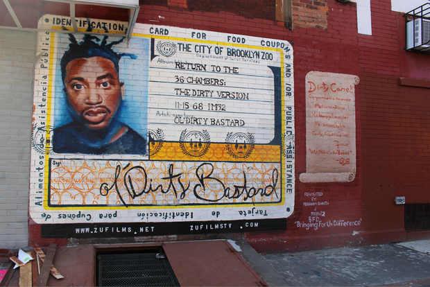 ベッドスタイにあるオール・ダーティー・バスタードの壁画