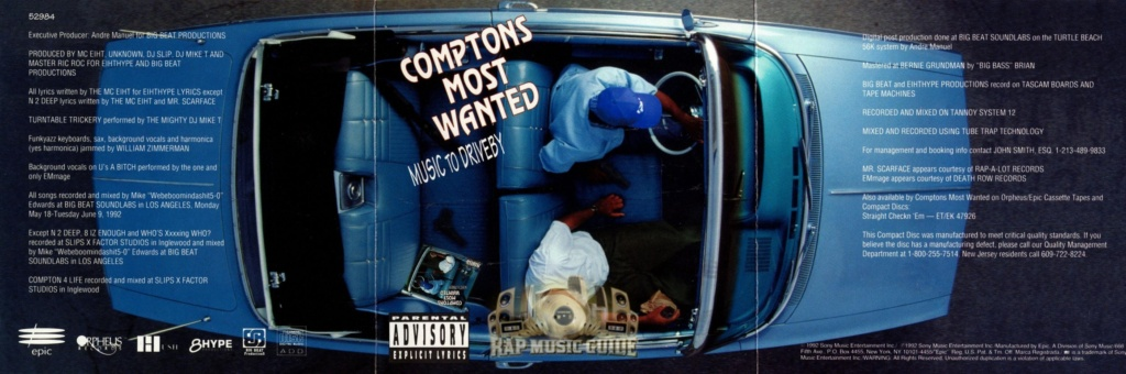 MC EIHTのGYEAH統計 – Compton's Most Wanted 時代 –