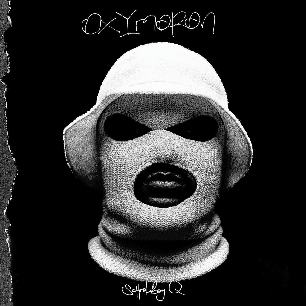 Oxymoron cd cover; music by Schoolboy Q. Photo Credit: Interscope Records